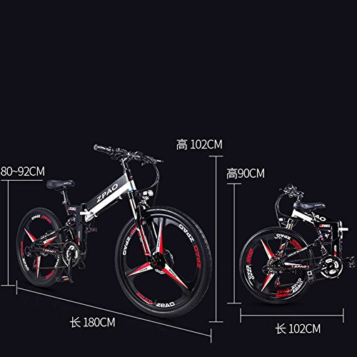 51fTqJ3vavL. SS500  - GTYW 26 Inch Electric Folding Bicycle Mountain Bike Adult Bike Electric Lithium Adult Folding Electric Mini Motorcycle 90km Battery Life
