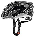 Uvex 4107650615_Black/Dark Silver_52-56 cm - Casco da ciclismo Adulti, S, colore: Nero Black/Dark Silver