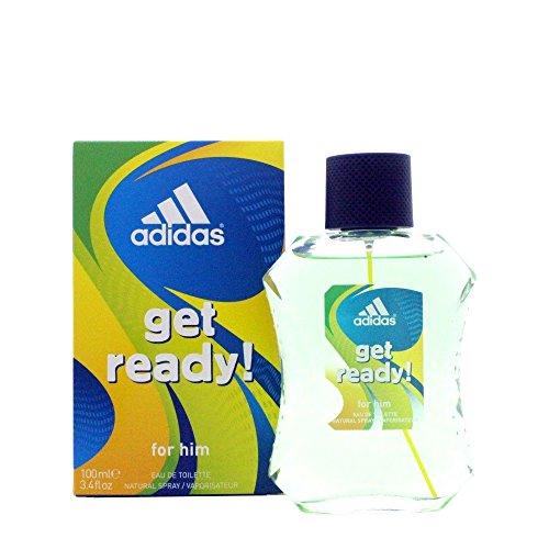 Adidas, Get Ready, Eau de Toilette da uomo, 100 ml
