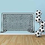 Jasonding Fußball Fußball Tor Net Ball Sport Wandtattoo Vinyl Dekor Kunst Wandaufkleber Für Jungen Zimmer Kinder Kindergarten Wohnkultur Wandbild