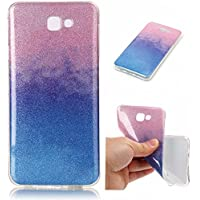Cozy Hut Samsung Galaxy J7 Prime, Samsung Galaxy J7 Prime Plating TPU Bumper Case Soft Silikon Gel Schutzhülle,Flash Bling Weich TPU Schutzhülle Handy Tasche Shinning Glitzer Kristall Flash-Pulver