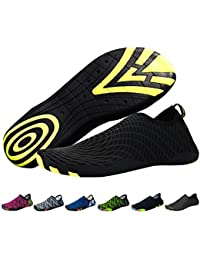 Barefoot Aqua Water Shoes Mens Womens Quick Dry Unisex Sports Lightweight Shoes with 14 Drainage Holes for Swim Surf Boating Beach Yoga Excise