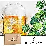 growbro   Hopfen Anzuchtset   Der Weg zu deinem eigenen Bier   Geschenk für Männer, Freunde & Papa, Geburtstagsgeschenk, Gastgeschenk, Geschenke zum Grillen, Männer Gadget