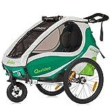 Qeridoo KidGoo 1 Fahrradanhänger 2017 - 1 Kind, Farbvariante:grün