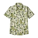 Patagonia M'S Go To Camisa, Hombre, Half Dome Bear Toasted Blanco, L