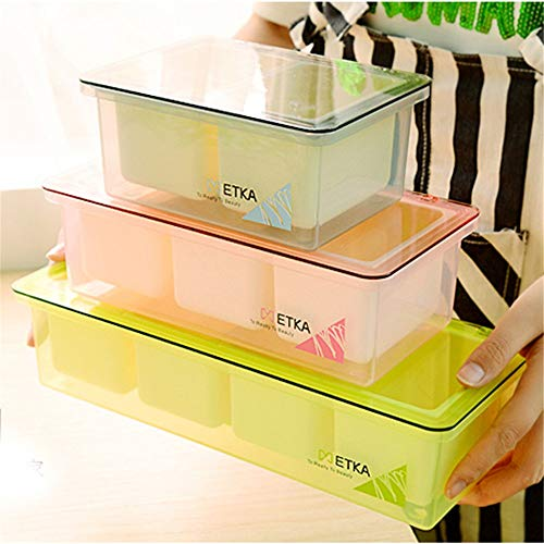 Kitchen Food Storage Box Plastic 3 Samll Boxes With Cover+Spoon Cereal Spice Multifunction Storage Seasoning Box Food Storage Box Cover