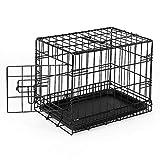 dibea DC00490, jaula de transporte para perros y animales pequeños, caja robusta hecha de alambre fuerte, plegable / con bisagras, 1 puerta, con bandeja inferior, tamaño S.