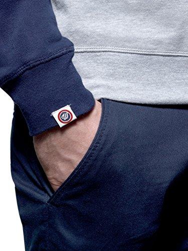WOLDO Athletic Herren Sweatshirt Pullover Pulli Raglan Slim Fit Howe / grau/blau