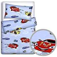 Baby Bedding Set Pillowcase + Duvet Cover 2PC to FIT Baby COT (Cars)