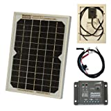 5W 12V Photonic Universe solar panel kit with 5A charge controller and battery cables for a camper, caravan, boat or any other 12V system (5 watt)
