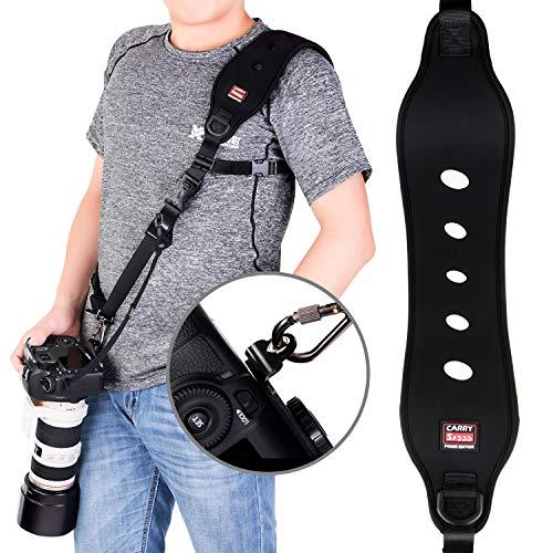 Coolwill Professional Schnelle Action Kamera-Schultergurt mit Quick Release Clip w/ Sicherheitsfunktion w/ Quick-Lock System w/ bis zu 15kg (schwarz) -