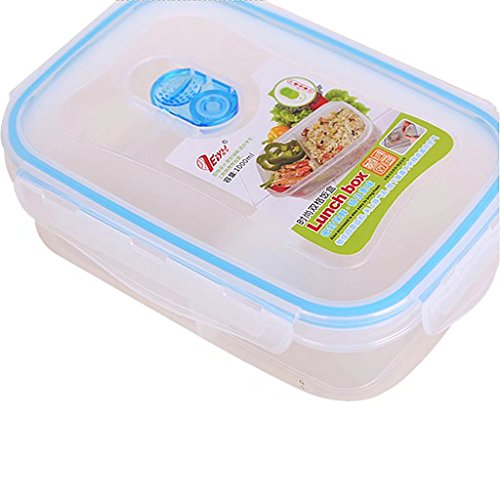 Lunchbox mit Deckel, 3 Fach, BPA frei, Blue Food Lagercontainer Batman Metall Lunch-box