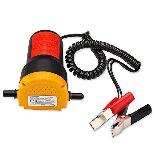 12V 80W Monzana Bomba extractora de aceite y di/ésel bomba de aspiraci/ón Aceite 1L//min R/ápido y sencillo