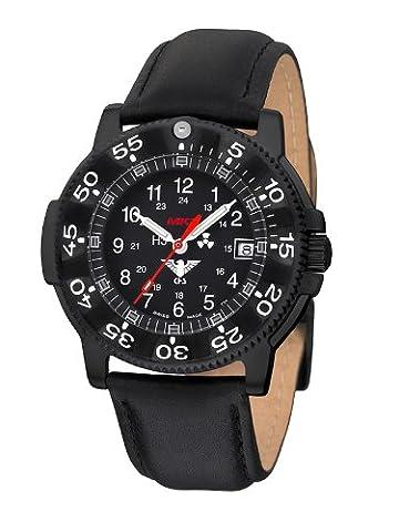 KHS Shadow Blue MK II H3 Einsatz Uhr mit Leder-Armband