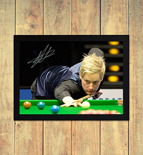 Neil Robertson Snooker 1 - High Gloss Printed Poster - A4 (210 x 297 mm) Personalised Framed