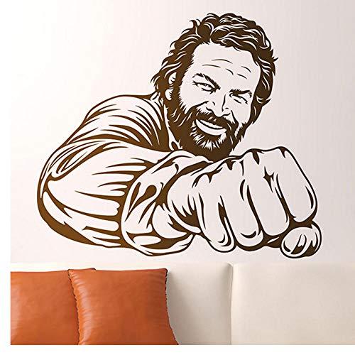 Fototapete Bud Spencer Berühmte Berühmte Italienische Comedian Schauspieler Porträt Vinyl Deco Humorvolle Wanddekortion 42x49cm
