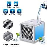 Mini Luftkühler Mobile Klimageräte Klimaanlage Air Cooler Conditioner mit Luftbefeuchter Luftreiniger USB