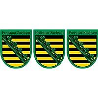 Blechschild Sachsen strassenschild Bundesland mit Wappen 46x10cm