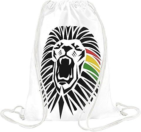 Roaring Lion - Roaring Lion Head Tattoo Junglist Movement Drawstring