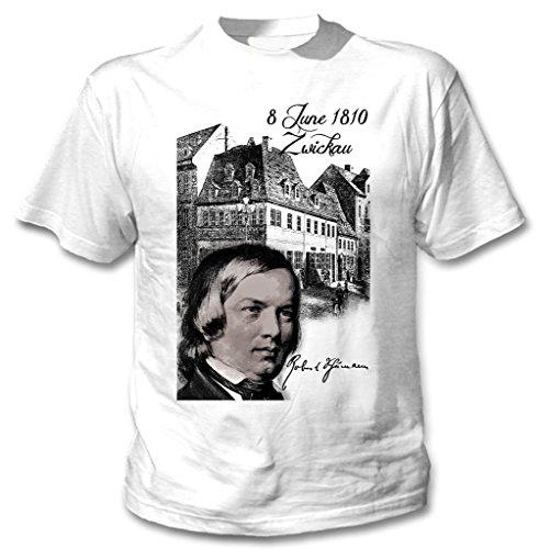 Teesquare1st Men's ROBERT SCHUMANN COMPOSER White T-Shirt