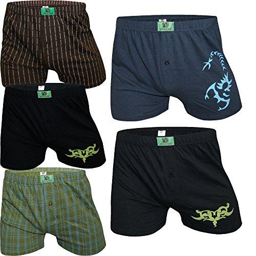 Herren Boxershorts Unterhosen Baumwolle Unterwäsche Mix Schwarz Männer 5er oder 10er Pack von Armonde Mix - 5 Stk.