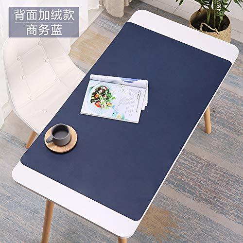 CNZXCO PU Piel Oficina Escritorio Equipo Teclado Mouse Pad Antideslizante Alfombra de Juegos con Superficie de Escritura cómoda Impermeable, Ultra Fina 2mm-Azul 90x45cm(35x18inch)