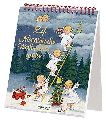24 nostalgische Weihnachtsgrüße: Ein Postkarten-Adventskalender zum Aufstellen