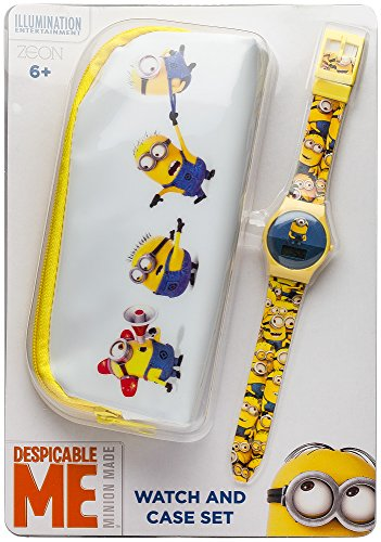 MINIONS  childrens digital Watch with blue Dial digital Display and yellow plastic Strap MNS15SET