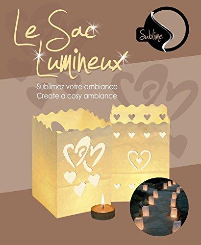 Sacs Lumineux PM x 10 Design MON CŒUR / ENSEMBLE