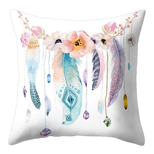 Funda de cojín Fragonaur con diseño de atrapasueños de plumas, funda de almohadón para decoración de sofá, 12#, Medium
