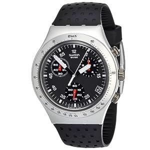 Reloj Swatch IRONY CHRONO de caballero de cuarzo con correa de goma negra (cronómetro) - sumergible a 30 metros de Swatch