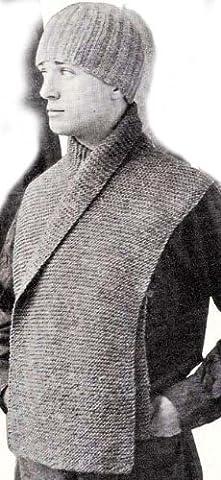 WWI Trench Cap Hat Beanie & Muffler Scarf Knitting Pattern