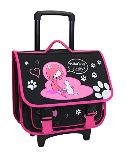 Cartable Trolley Scolaire Alistair - 39cm - Fille - What's Up Cathy