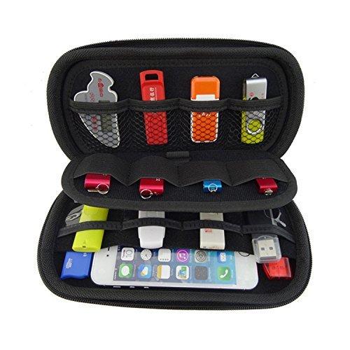 USB-Schlüssel-Beutel Große Fähigkeit Universalelektronik-Zusätze Fall / USB-Antrieb Shuttle-Beutel / Gesundheit (schwarz) (Junior Tote Black Handtaschen)