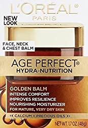 LOreal Paris Age Perfect Hydra-Nutrition Golden Balm Face, Neck & Chest, 1.7