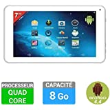 TAKARA tablette 7`` blanche Quad Core 8Go Bluetooth