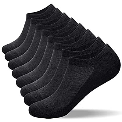 8 Pairs Ankle Socks, Cotton Mens Socks Ladies Socks (Size 3-15) Trainer Running Socks Breathable Low Cut/No Show Socks by Anqier