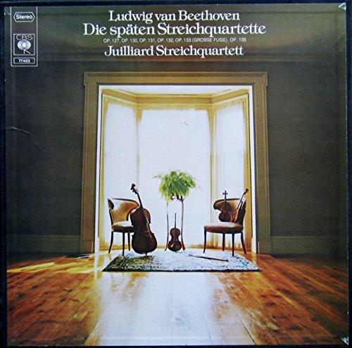 Beethoven: Die späten Streichquartette op.127, op.130, op.131, op.132, op.133 (Grosse Fuge), op.135 [Vinyl Schallplatte] [4 LP Box-Set] Juilliard-set