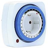 Mechanische Zeitschaltuhr mit 24 Stunden Timer, 96 Schaltsegmente à 15 Minuten, 360 W, Kindersicherung