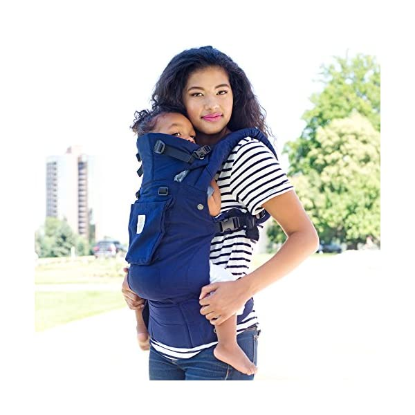 SIX-Position, 360° Ergonomic Baby & Child Carrier by LILLEbaby - The Complete Organic (Blue Moonlight) Lillebaby ERGONOMIC: Perfect for newborns. No insert needed. COMFORT: Voted most comfortable baby carrier. SIX (6) POSITIONS: Front inward (fetal, infant, or toddler settings), front outward, hip or back carry. 7 - 45 lbs. 5