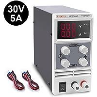 Fuentes de alimentacion regulables DC 0-30V / 0-5A Eventek Regulable Digital Ajustable , para laboratorio, reparación general,hogar..