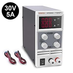 Eventek KPS305D Alimentatore da Laboratorio DC Regolabile Stabilizzato, Alimentatore da Banco 0 - 30V / 0 - 5A