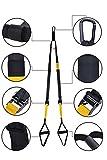 Sel Natural Sangles de Suspension Entraînement Trainer Straps - Equipement Professionnel de Musculation ou Renforcement Musculaire - Fabriqué Solide Supportant Poids de 200 kg