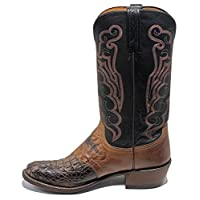Lucchese 1883 Brun Horned Back Caiman Saddle Cowboys Boots n1129.r4 Size (9D)