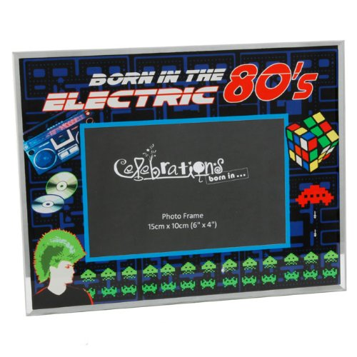 Born In the Electric Eighties Glass Photo Frame