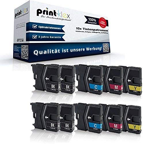 10x Kompatible Tintenpatronen Sparset für Brother DCP J125 DCP J315W DCP J515W MFC J220 MFC J265W...