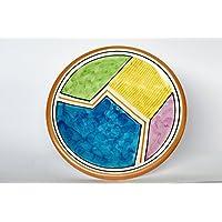 Piatto in ceramica da tavola finemente decorato con motivi geometrici Collezione Random Collezione Random
