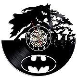 Feuer Thema Vinyl Record Wanduhren Batman Schlafzimmer Wand Dekoration Geschenk Wanduhr Nachtlicht