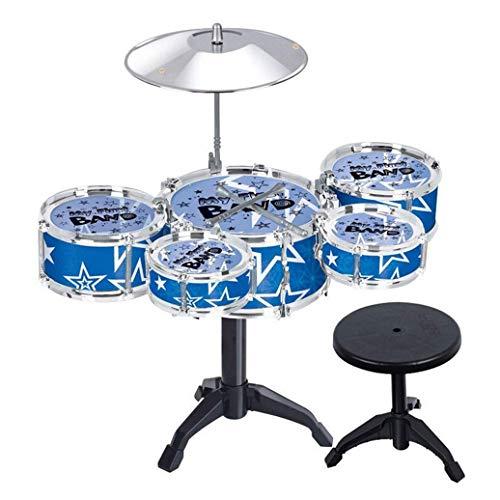Shangwelluk 5-teiliges Drum Set Junior Starter Drum Kit Musikinstrumente Musical Instruments Set Spielzeug von Holz Percussion Schlagzeug Schlagwerk Rhythmus Band Werkzeuge für Kinder und Baby (Junior-werkzeug-set)