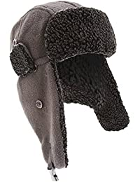 Mens Anti-Pilling Fleece Thermal Trapper/Ski Hat